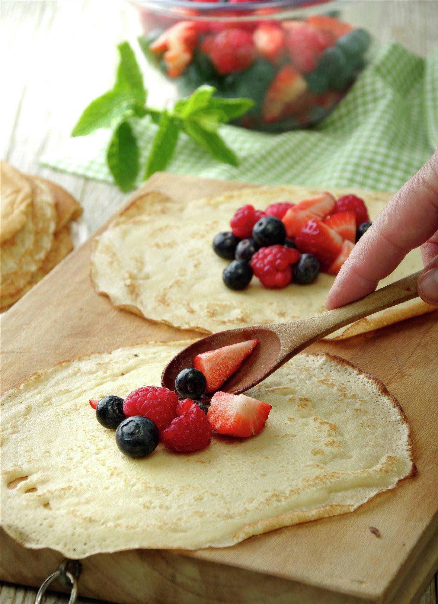 5. Rellenas con frutas