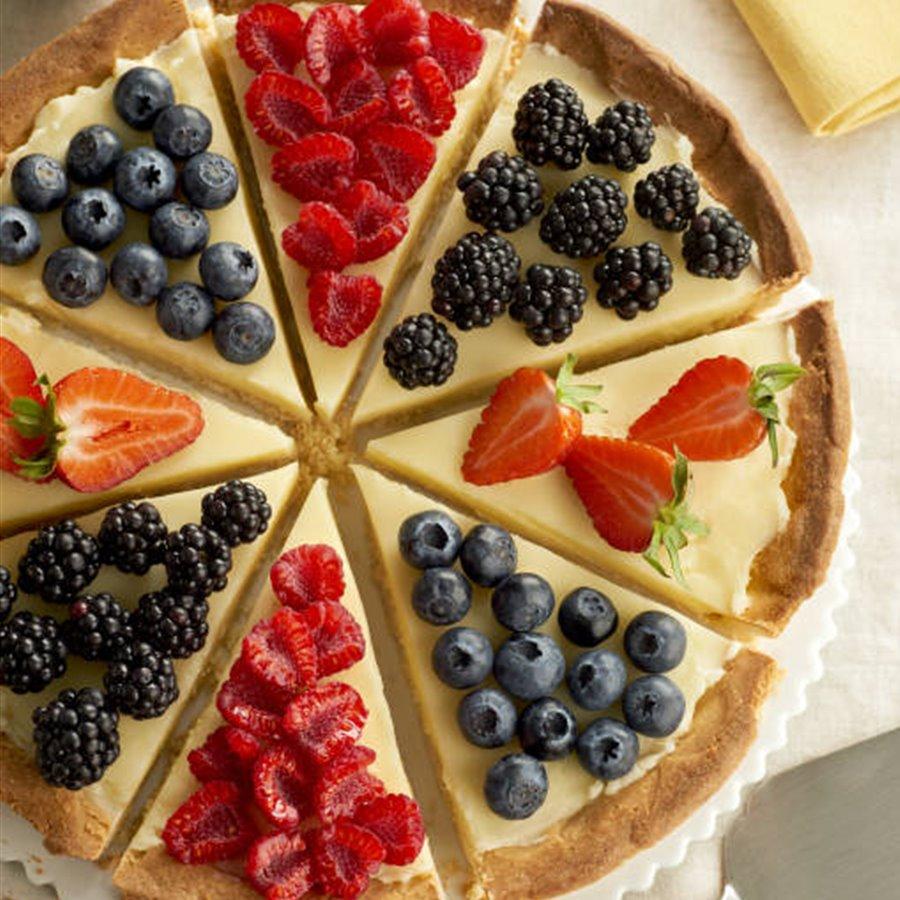 Tartaleta de crema y frutas rojas