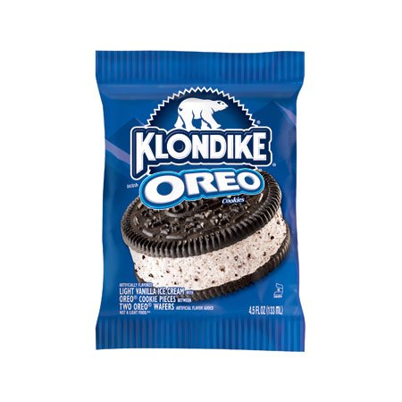 Klondike, sándwich extra grande de galletas de helado Oreo, 4.5 oz.  (24 unidades)