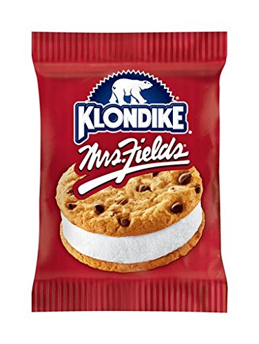 Sra. Klondike.  FIELDS Sándwich de helado de galleta con chispas de chocolate, 7 oz.  (12 piezas)