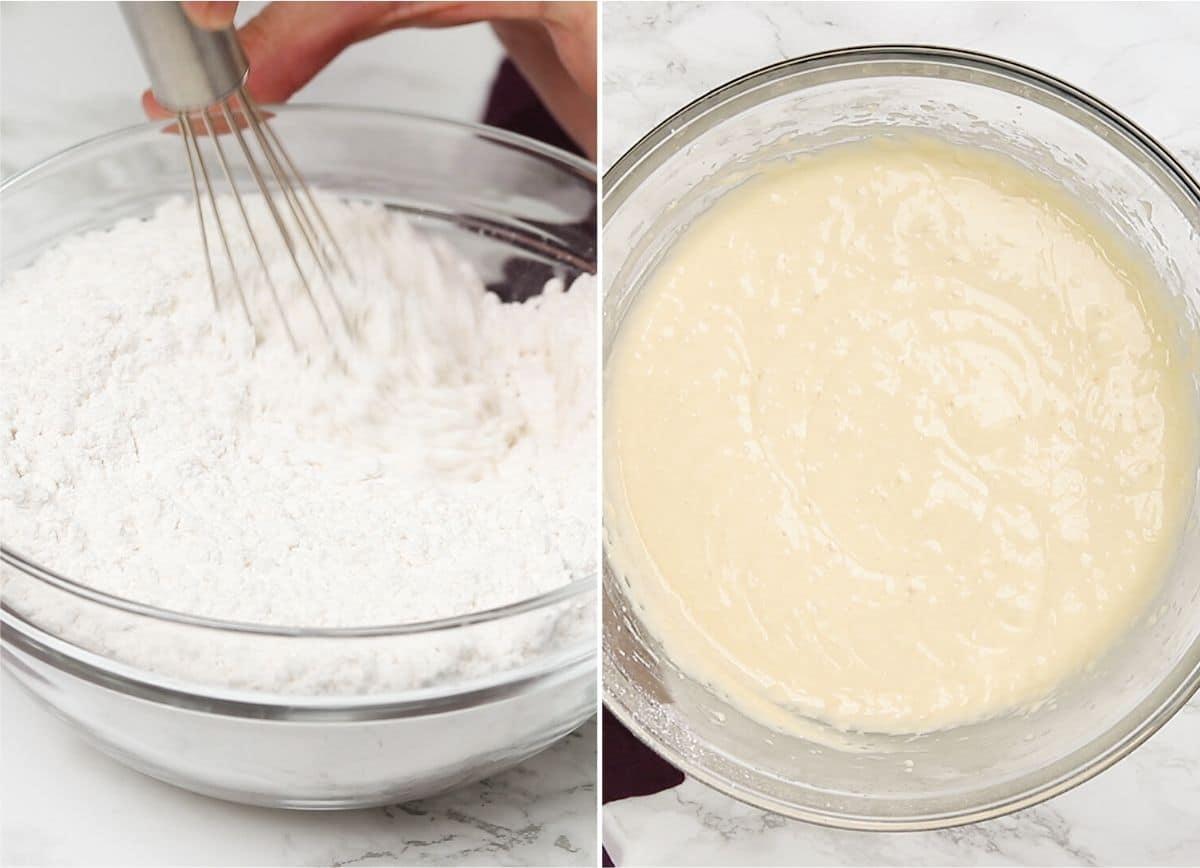 Procesar grabaciones de masa de pastel de mármol
