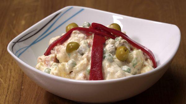 receta de ensalada rusa