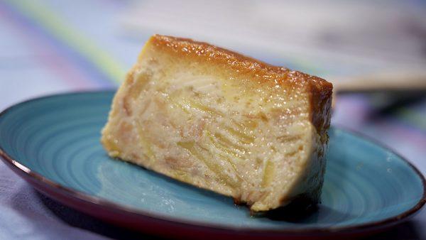 Budín de pan de manzana