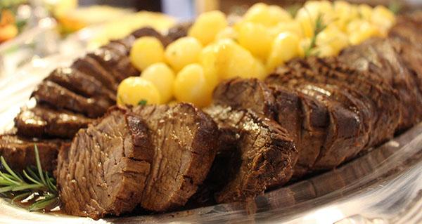 Recetas de carne navideña.  Una selección de 20 recetas de carne fáciles y económicas, perfectas para preparar menús navideños.