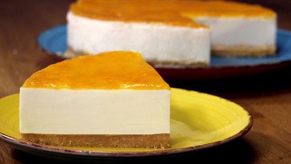 Tarta de yogur sin horno