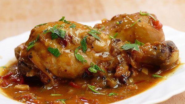 receta de estofado de pollo