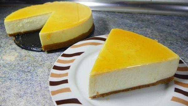 Tarta de queso y tarta de caramelo
